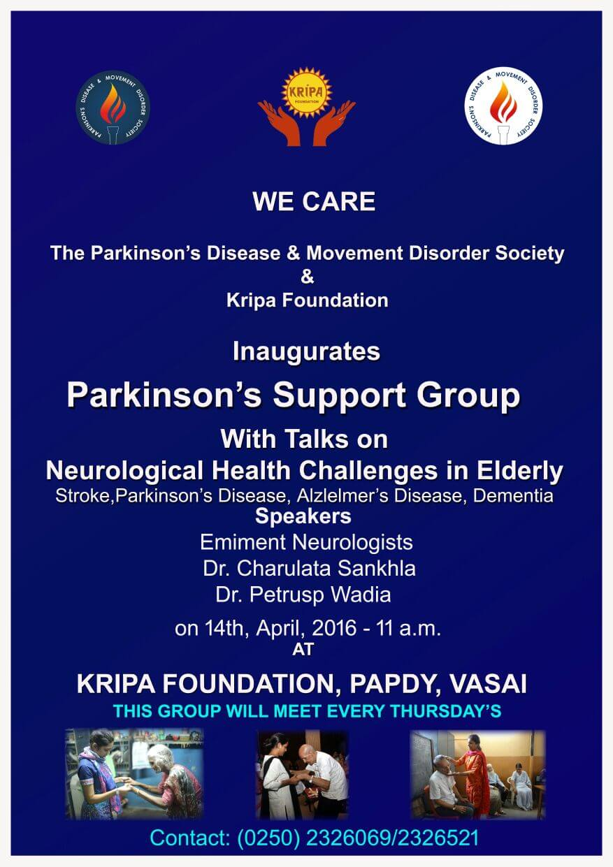 Inauguration of Parkinson's Support Group on 14 April 2016